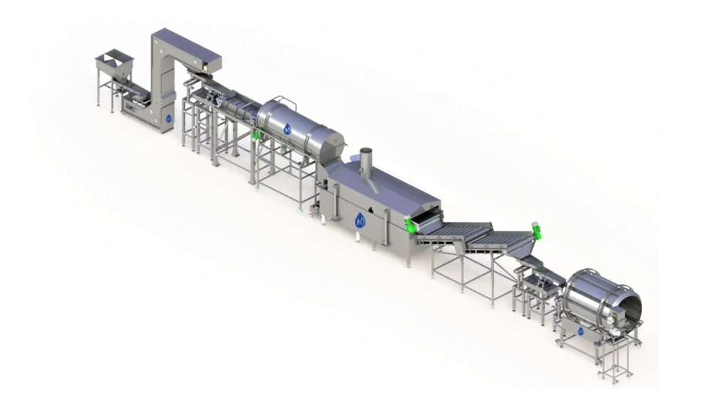 Photograph - Pellet Frying Line With Pre-Fryer